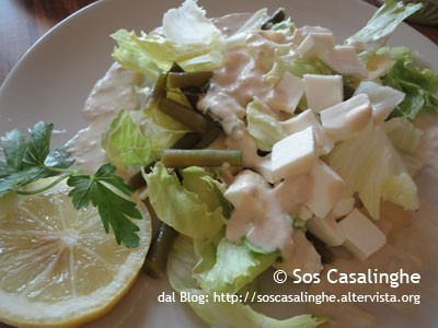 Ricetta Insalata con Fagiolini con salsa tonnata alle olive