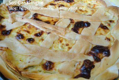 Ricetta Torta salata di pasta brisè con fiori di zucca
