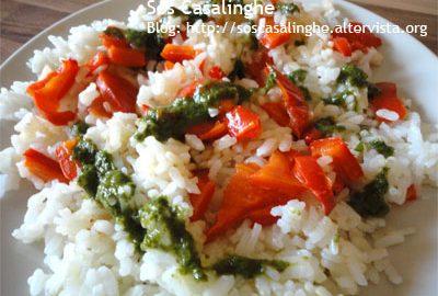 Ricetta Riso con Peperoni e Pesto di Basilico
