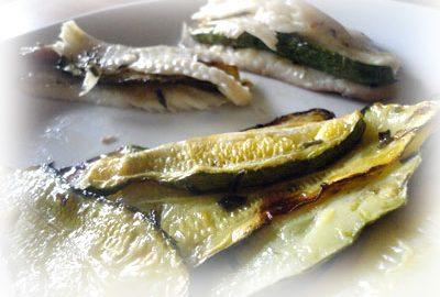 Ricetta Filetti di Sogliola con zucchine al forno