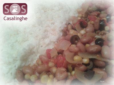 Ricetta Riso con Legumi e Verdure in scatola