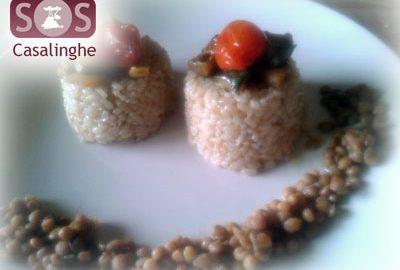 Ricetta Riso integrale con Verdure e Lenticchie