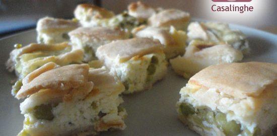 Ricetta Torta Salata ai Piselli