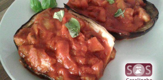 Ricetta Barchette di Melanzane ripiene al Pomodoro