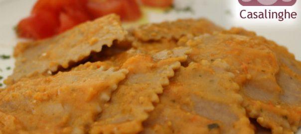 Ricetta Ravioli di Farina di Castagne con sugo di pomodorini