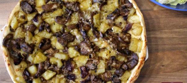 Torta Salata con Funghi e Patate