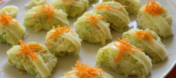Quenelle di Riso zucchine carote e formaggio