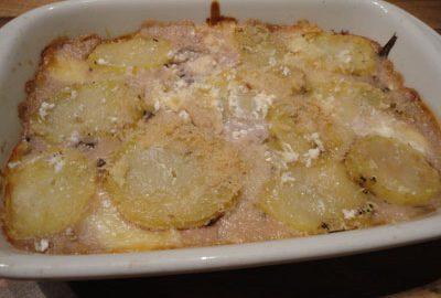 Ricetta lasagne di patate con radicchio rosso e provolone