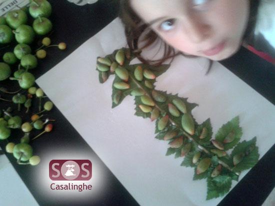 Attività per bambini raccolta di frutta con disegno
