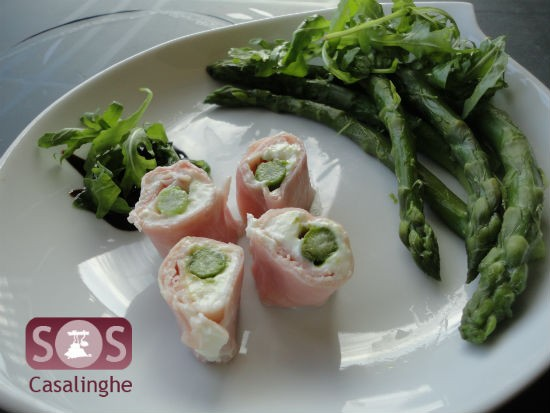 Ricetta sushi di prosciutto cotto ed asparagi