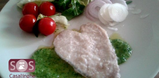 Ricetta Scaloppine al limone con salsa di rucola