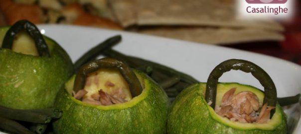Ricetta Cestino di Zucchine con Tonno e Fagiolini