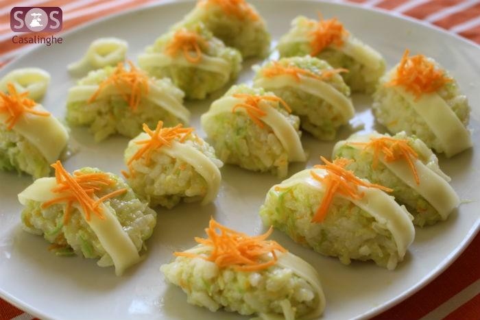 Riso zucchine carote e formaggio